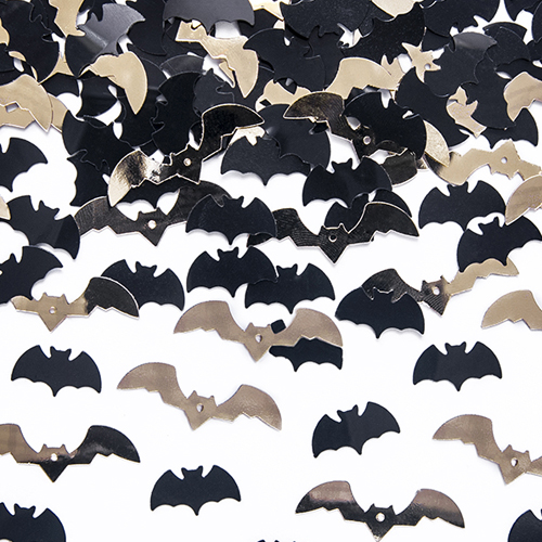 Halloween Black and Gold Bats Confetti - Halloween decorations - Fabulous Partyware