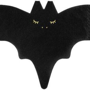 Halloween Bat shaped paper napkins x 20 - Halloween party decorations - Fabulous Partyware