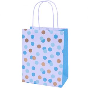 Blue and Gold Spotty party bags x 4 - Blue party bags - Fabulous Partyware