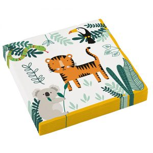 Get Wild Jungle Safari Party Napkins x 16 - Jungle animal themed party - Fabulous Partyware
