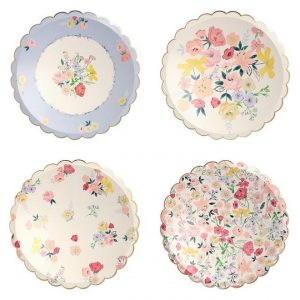 English Garden Party Dinner Plates x 8 - Floral tableware - Fabulous Partyware
