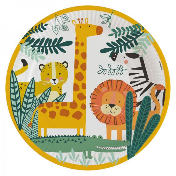 Get Wild Jungle Safari Party Plates x 8 - Jungle Safari Adventure Party - Fabulous Partyware