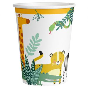 Get Wild Jungle Safari Party Cups x 8 - Jungle animal themed party - Fabulous Partyware