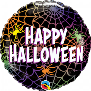 Halloween Spiders and webs foil Balloon - Halloween party decorations - Fabulous Partyware